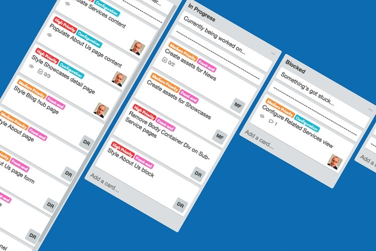 Using Trello to manage project development