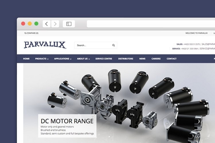 Parvalux Magento website launch