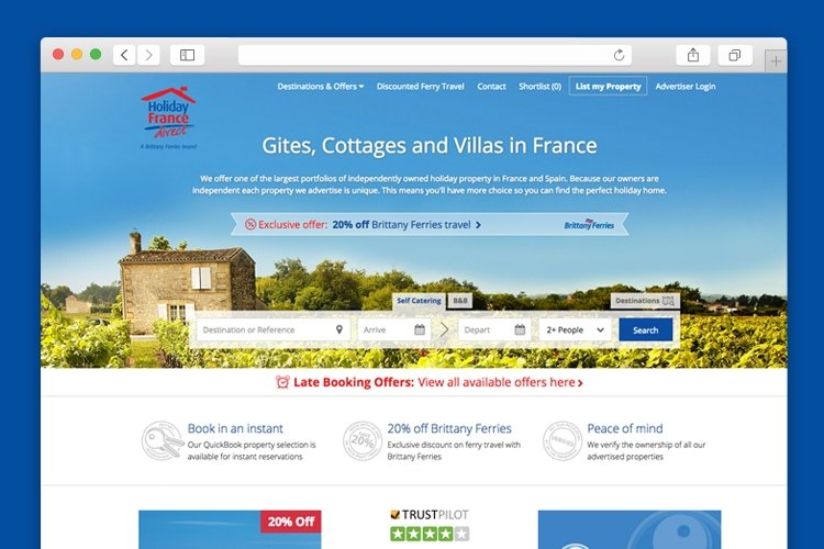 New Holiday France Direct website sees significant lift in performance