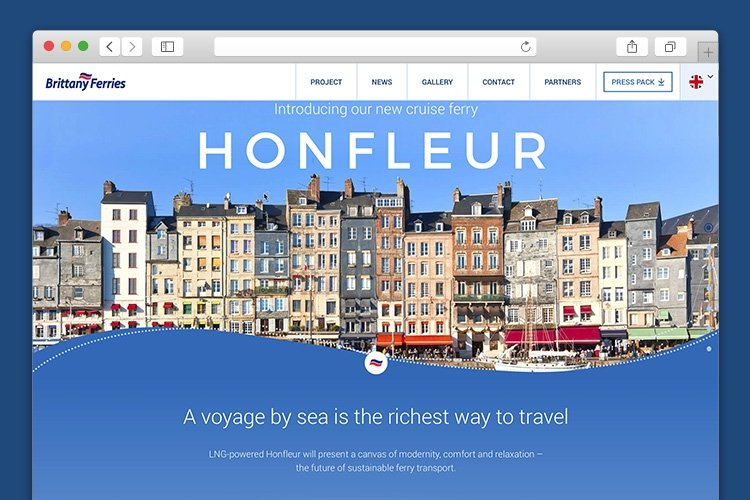 Drupal 8 website for Brittany Ferries' Honfleur
